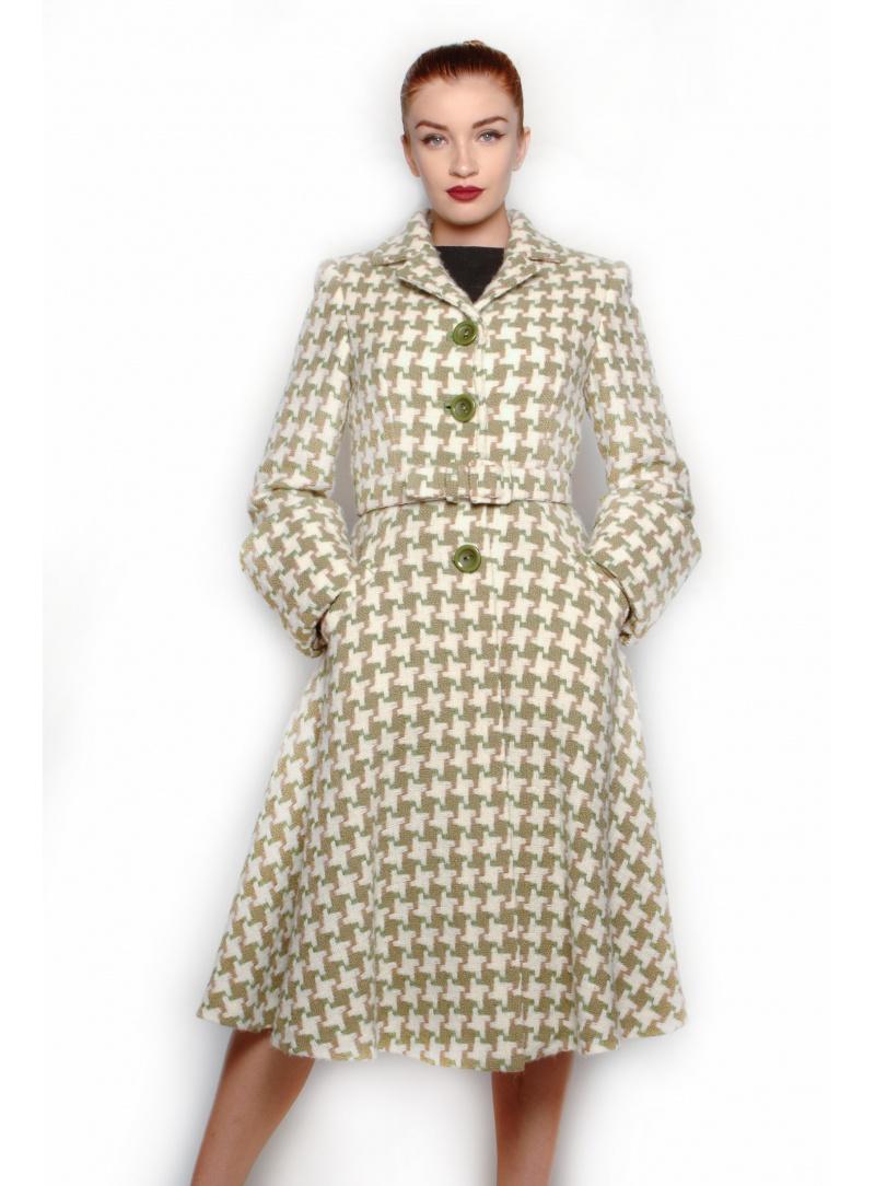 new style f3c24 2a487 Pied de Poule Women's Coat 4 Buttons CSS 749
