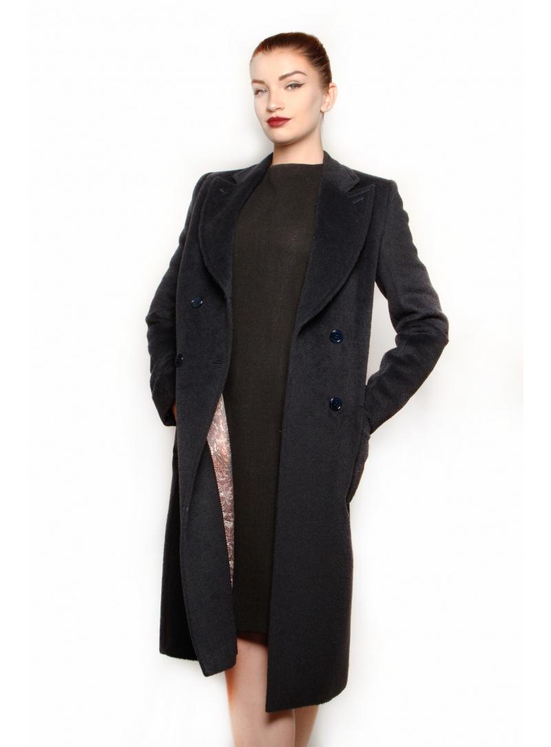 Blauer kaschmir mantel