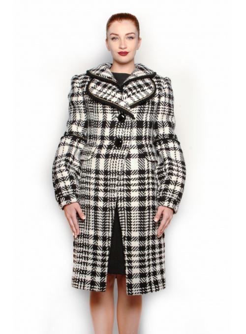Manteau femme Tartan à...