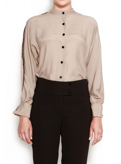 Camisa de seda 100% de alta...