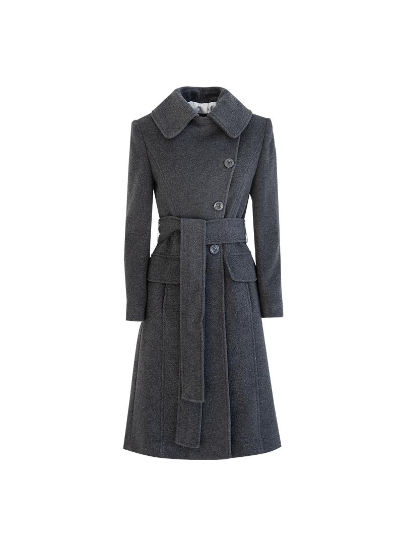 ... Cappotto Donna Blu Lana Cashmere con Arricciatura CSS 20155. Reduced  price  New 924f225bb0c