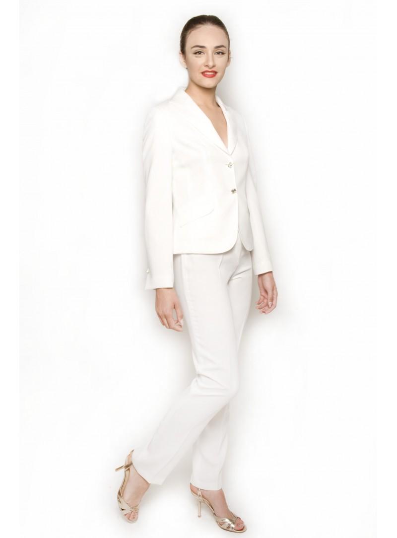 3112f9a23418 Home  Tailleur Donna Bianco Giacca CSS Aurora e Pantalone CSS Cherry. Nuovo