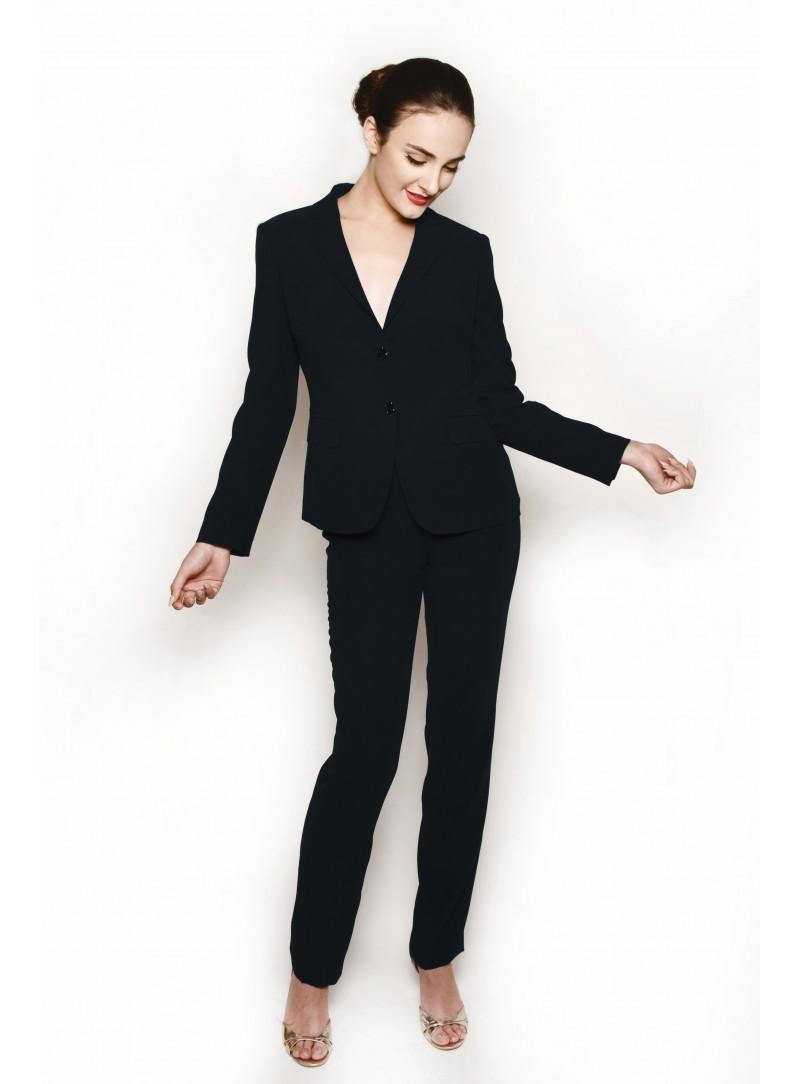 Pantalones Traje Mujer De Y 418c Para Chaqueta Negra Css 48Hq4