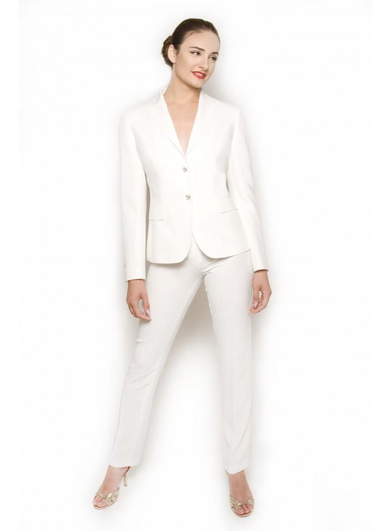 c2ba4c4877d90 Tailleur Donna Bianco Giacca CSS 418C e Pantalone CSS Cherry