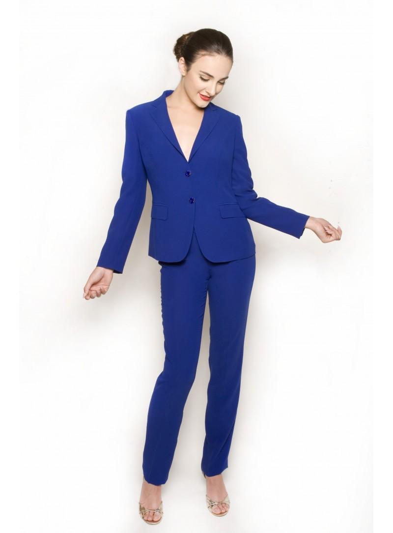 2c90b50c64c6 Home  Tailleur Donna Blu Elettrico Giacca CSS 418C e Pantalone CSS Cherry.  Nuovo