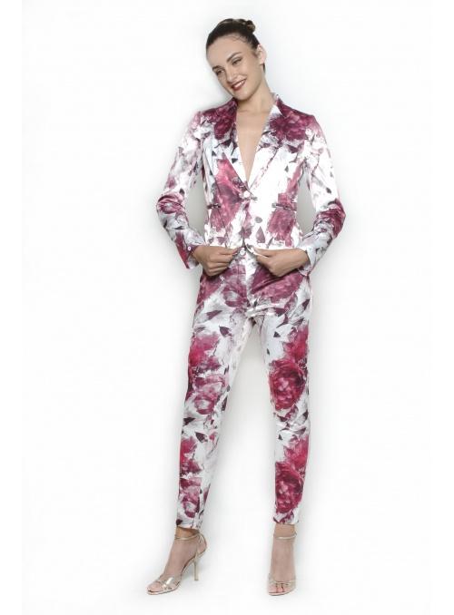 Damen Fuchsie Jacket Set...