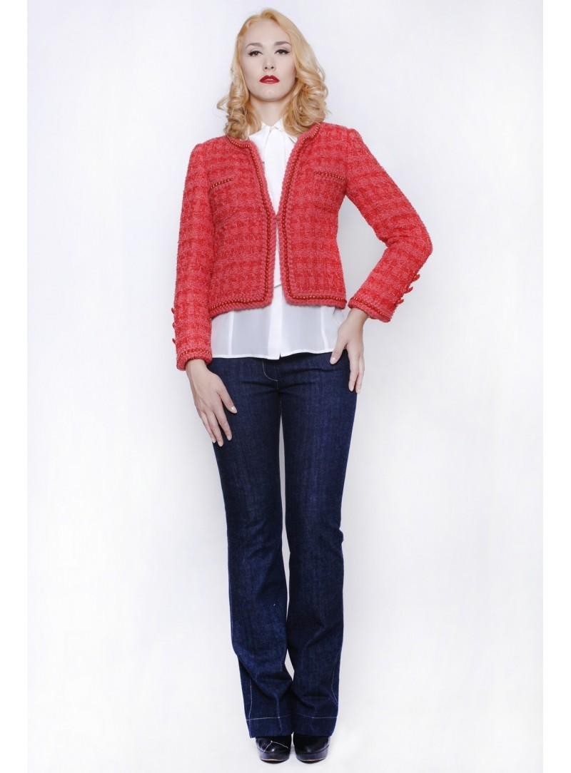 Haute Couture Mini Abito Donna in lino 100% CSS 725