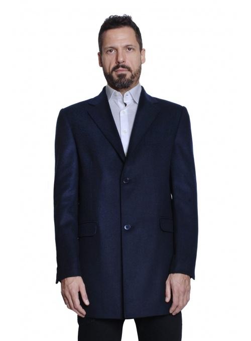 Cappotto Uomo Blu Foderato...