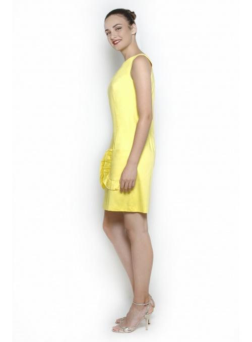 Damenkleid in gelber...
